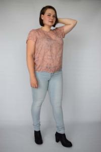 Roze top met marble print