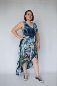 Blauwe jurk