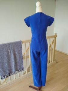 Blauwe jumpsuit